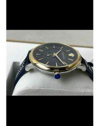 Versace Montre au poignet acier bleu