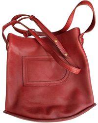 Delvaux - Sac en bandoulière en cuir cuir rouge - Lyst