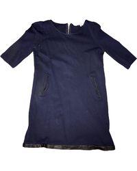 Sandro - Tunique viscose bleu - Lyst