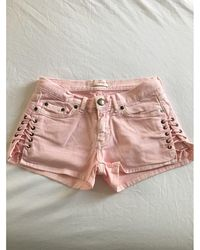 Maje Short coton rose