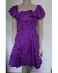 Sonia Rykiel - Robe courte polyester violet - Lyst