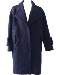 Carven Manteau laine bleu