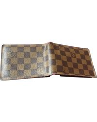 Louis Vuitton - Portefeuille simili cuir marron - Lyst