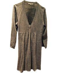 Gerard Darel - Robe mi-longue laine mélangée gris - Lyst