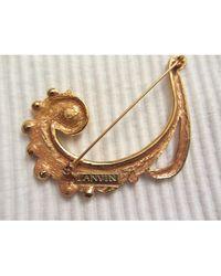 Lanvin Broche métal doré - Métallisé