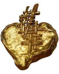 Christian Lacroix Broche métal doré - Métallisé