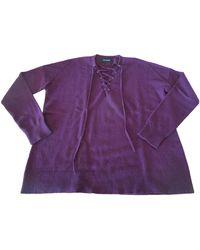 The Kooples Pull laine violet