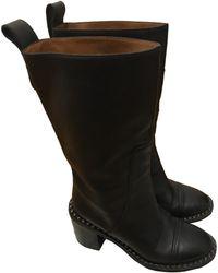Zadig & Voltaire - Bottines & low boots motards cuir noir - Lyst