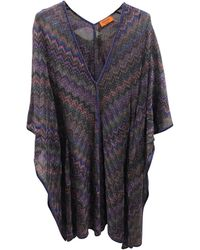 Missoni - Robe kaftan, djellaba viscose multicolore - Lyst