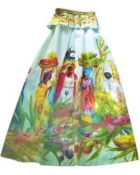 Stella Jean Robe longue coton multicolore