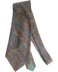 Dior Cravate soie multicolore - Gris