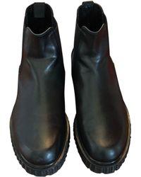 Valentino Bottines cuir noir