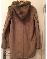 Balmain Manteau polyester beige - Neutre