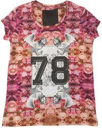 Philipp Plein - Top, tee-shirt coton rose - Lyst