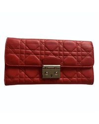 Dior Portefeuille cuir rouge
