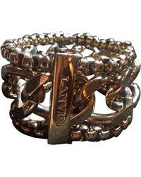 Lanvin Bracelet plaqué or doré - Métallisé