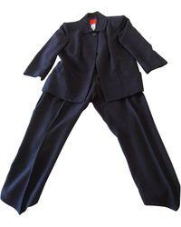 Christian Lacroix - Tailleur pantalon viscose noir - Lyst