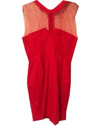 The Kooples Robe courte stretch rouge