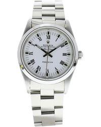 Rolex Montre au poignet acier blanc