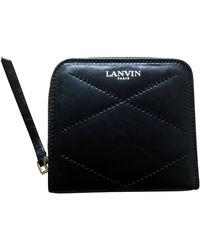 Lanvin Portefeuille cuir noir