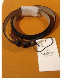 Valentino Garavani Ceinture fine cuir noir