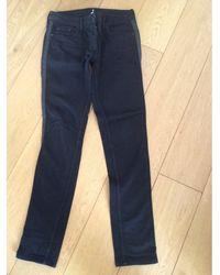 Sandro Jeans slim coton noir