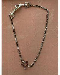 Dior - Collier métal argent - Lyst