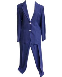 Max Mara Tailleur pantalon laine bleu
