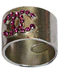 Chanel Bague métal rose