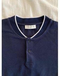Sandro Polo coton bleu