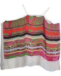 Roberto Cavalli Tunique soie multicolore