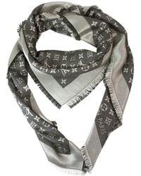 Louis Vuitton Châle soie noir