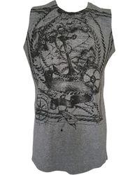 Balmain Tee-shirt coton gris