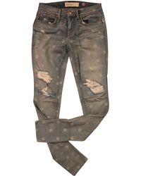 Marc Jacobs - Pantalon slim, cigarette coton bleu - Lyst