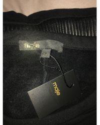 Maje Robe courte cuir noir