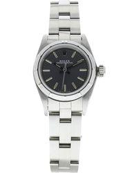 Rolex - Montre au poignet acier OYSTER PERPETUAL gris - Lyst