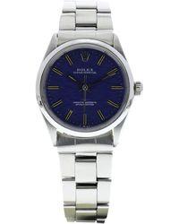 Rolex Montre au poignet acier OYSTER PERPETUAL bleu