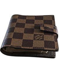 Louis Vuitton Porte-cartes cuir marron