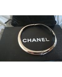 Chanel - Collier acier argent - Lyst