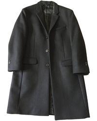 The Kooples Manteau laine noir