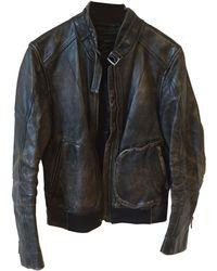 Marc Jacobs - Veste en cuir cuir noir - Lyst