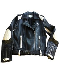 IRO - Blouson en cuir cuir noir - Lyst