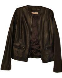 Gerard Darel Blouson en cuir cuir noir