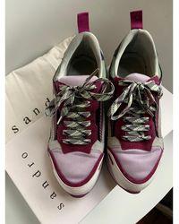 Sandro Baskets tissu violet