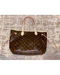 Louis Vuitton - Sac XL en cuir cuir Neverfull marron - Lyst