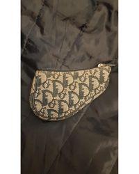 Dior Porte-monnaie toile Saddle bleu