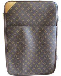 Louis Vuitton Sac XL en cuir toile marron