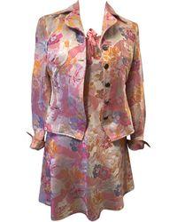Christian Lacroix Tailleur robe acetate multicolore