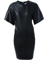 Étoile Isabel Marant Robe courte simili cuir noir