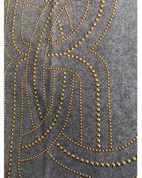 Roberto Cavalli Châle laine gris
